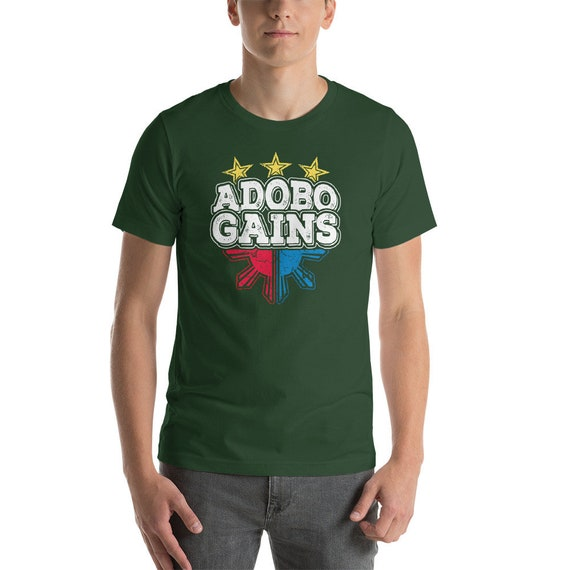 Adobo Gains chemise, chemise, chemise, humour philippine Adobo Tee, Pinoy Adobo Lover chemise, Pinoy Adobo Pride, tee-shirt Body Building, Fitness T-Shirt unisexe f8794e