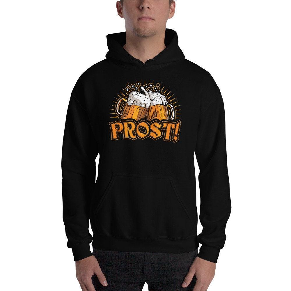 Oktoberfest à capuche Sweat, Prost Prost Prost Cheers en allemand, les amateurs de bière Sweat à capuche, fête et boire, partie bière, bière populaire Fest Sweatshirt 750eff