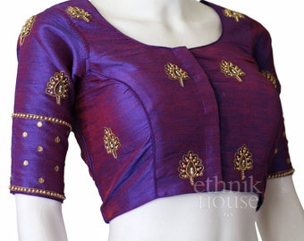 f17303b0d1f89e Designer readymade embroidered long sleeve saree blouse