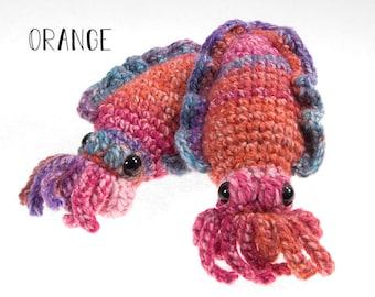 Handmade Cuttlefish Amigurumi Crochet Stuffed Animal Plush Toy Multi-Color