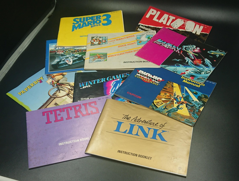 Nes Manuals Original Nintendo Entertainment System Manuals Etsy