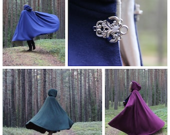 CUSTOM wool cloak with pockets