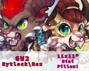 GW2 Guild Wars 2 Rytlock Rox Charr Mini Pillow