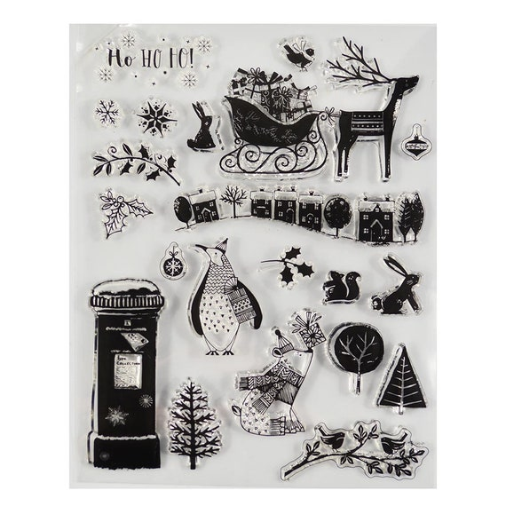 Let it snow Transparent Clear stamps Rubber seals for DIY scrapbooking card making paper artist stamp sheet