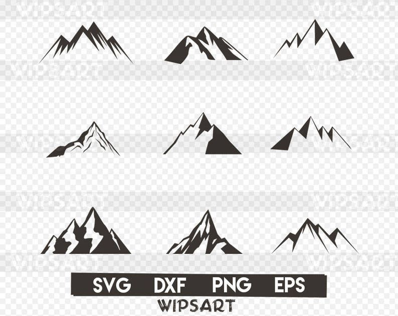 SALE! Mountain svg cut File, mountain scenery silhouette svg file, mountain  silhouette svg files, mountain dxf file,mountain cricut,mountain
