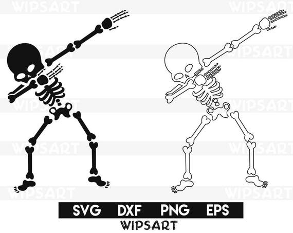 SALE Skeleton svg skeleton halloween skeleton dancing | Etsy