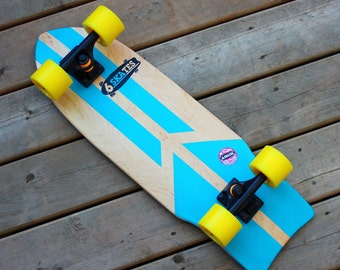 6 Skates Cruiser Board - Deck Re-Manufatured/Upcycled From an Old Skateboard
