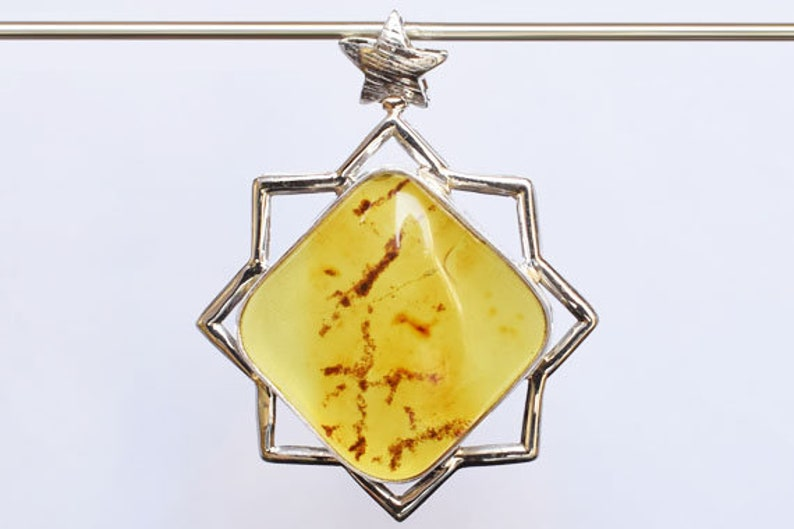 2d8ec070a099b Designer Jewellery Natural Green Baltic Amber Gemstone Pendant, 925 Solid  Sterling Silver Women Jewelry, Handmade, Wholesale Price, FSJ-1301