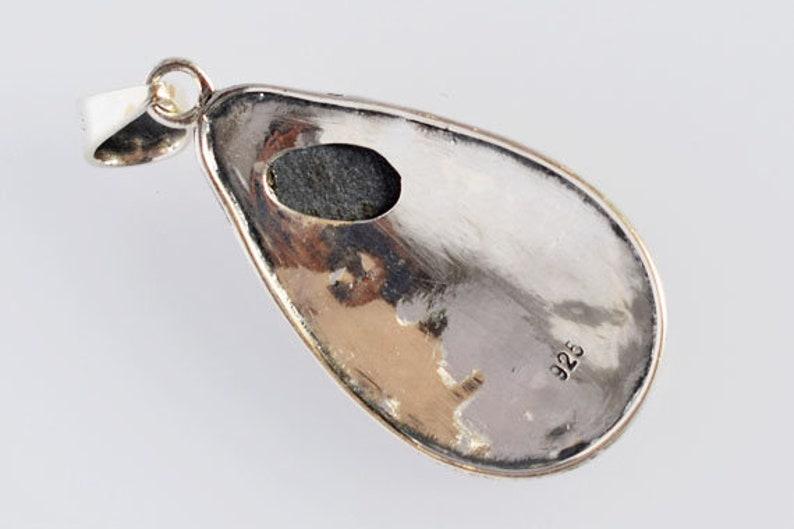 Handmade Solid 925 Sterling Silver Jewelry Gift Jewellery FSJ-3663 New Jewellery Natural Red Yellow Flashy Fire Ammolite Gemstone Pendant