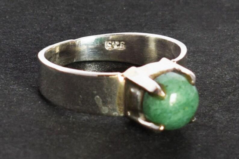 Handmade Ring Eternity Ring 925 Solid Sterling Silver Ring Gift for her Engagement Ring FSJ-2890 Aventurine Men/'s Ring