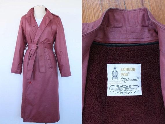 Vintage Oxblood London Fog Trench Coat | Vintage L