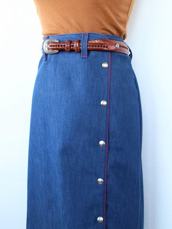 1960's Riding Skirt | Vintage Western Skirt | Siz… - image 2