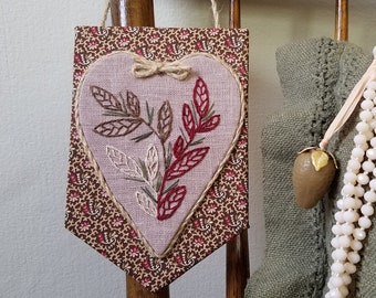 Embroidered Heart Decor