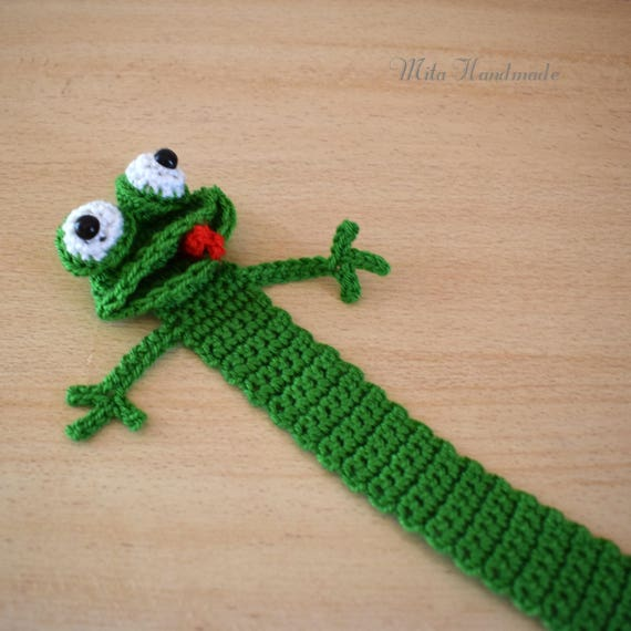Bookmarken Sie Frosch Häkeln Lesezeichen Frosch Lesezeichen Etsy