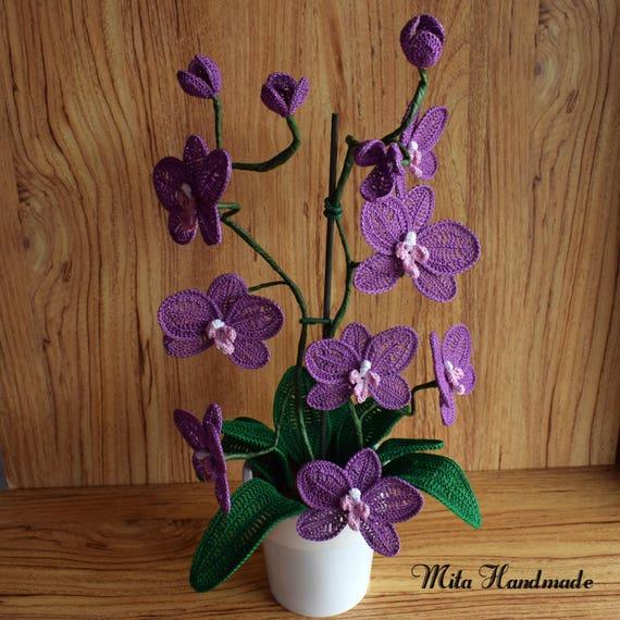 Orchideen Orchidee häkeln häkeln Häkelblumen häkeln   Etsy