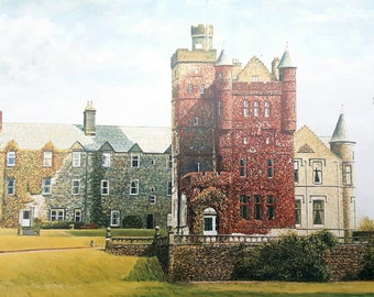 Houston House - limited edition print from an original artwork. By Scottish artist Robert J. Gould.