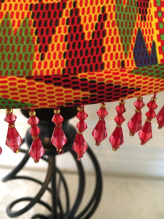 Kente Lime Little Bell Lampshade