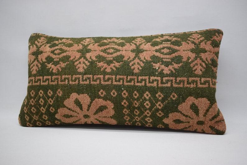 striped kilim pillow 12x24 tribal pillow tribal pillow nomadic wool pillow ethnic pillow 12x24 lumbar kilim aztec pillow 0995