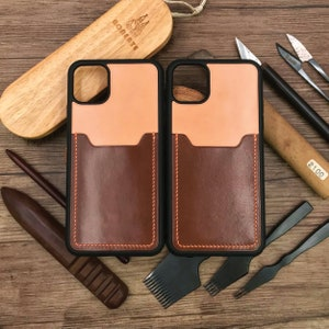 11/&12ProProMax12Mini Shockproof  Japanese  Embossed  Customized Hand Stitched Product Handle iPhone Case 8-Colors Tochigi Leather
