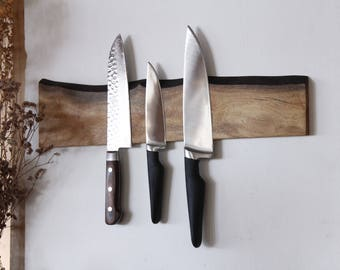 Live Edge Magnetic Knife Rack (Wall Mounted)
