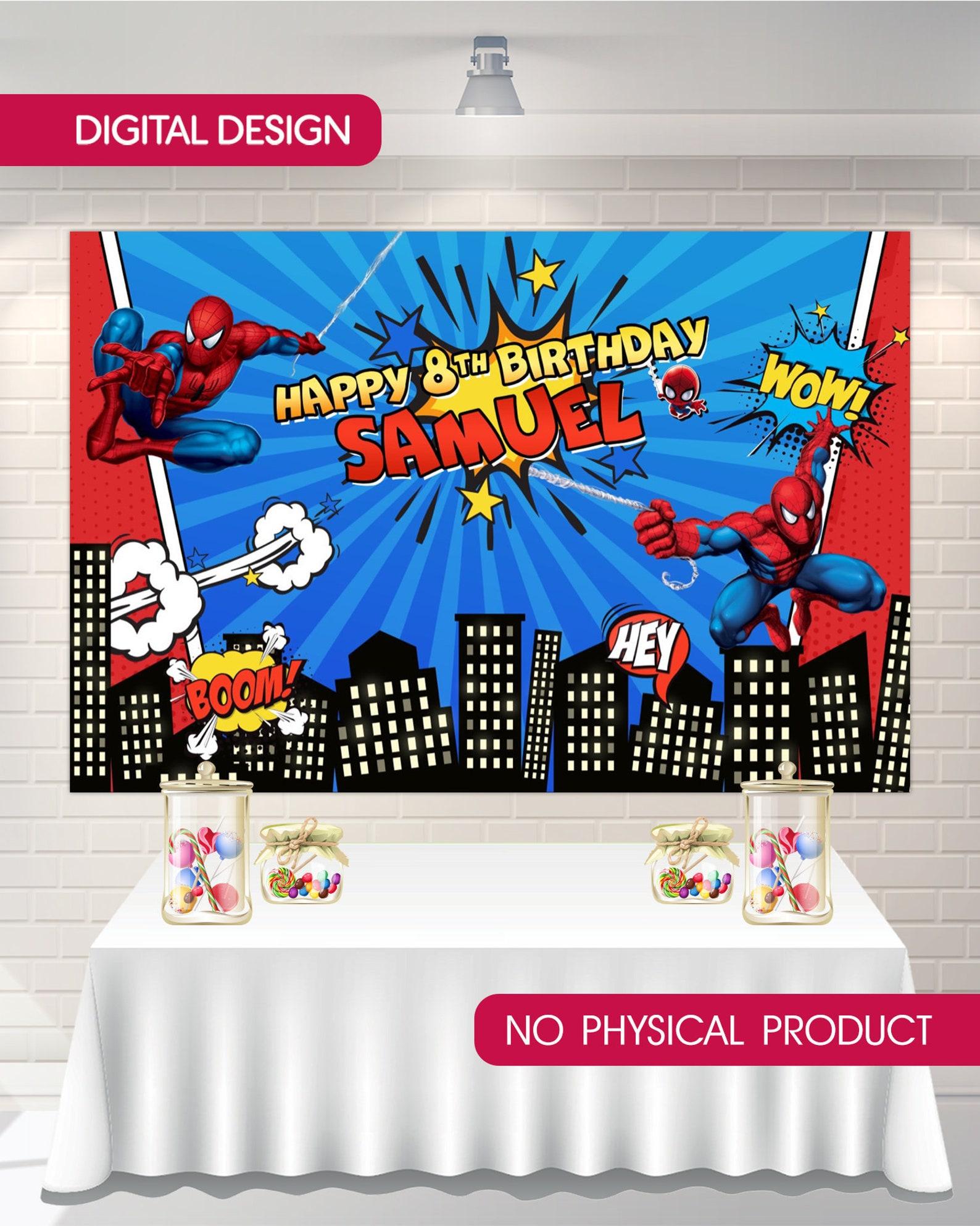 Printable Spiderman Backdrops