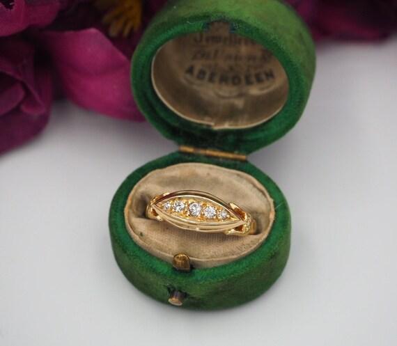 Antique 18ct Yellow Gold Five Stone Diamond Ring,
