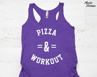 Pizza and Workout Tank - funny pizza shirt 0b0c2bb6af661