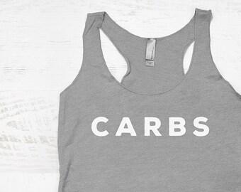b30785de4 Carbs Tank Top - womens carbs shirt, funny gym tank, womens workout shirts,  funny womens tanks, carbs tshirt, funny gym shirts