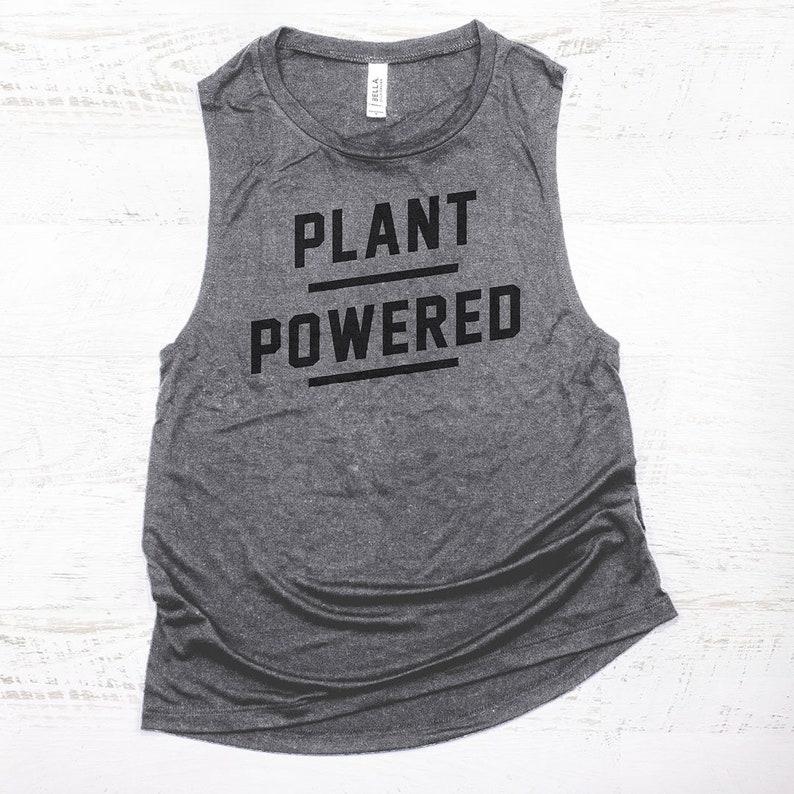 c4a585b4 Plant Powered Muscle Tank vegan gym tanks funny vegan | Etsy