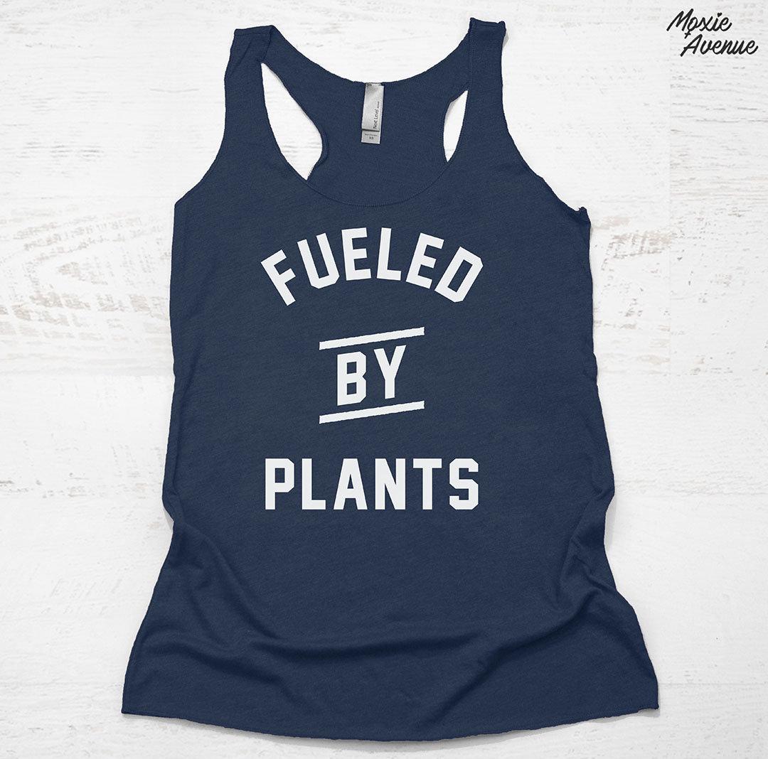 9cec7cf6 Fueled By Plants Tank top vegan gym shirts funny vegan | Etsy