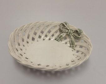 Vintage bowl oval broken porcelain bowl