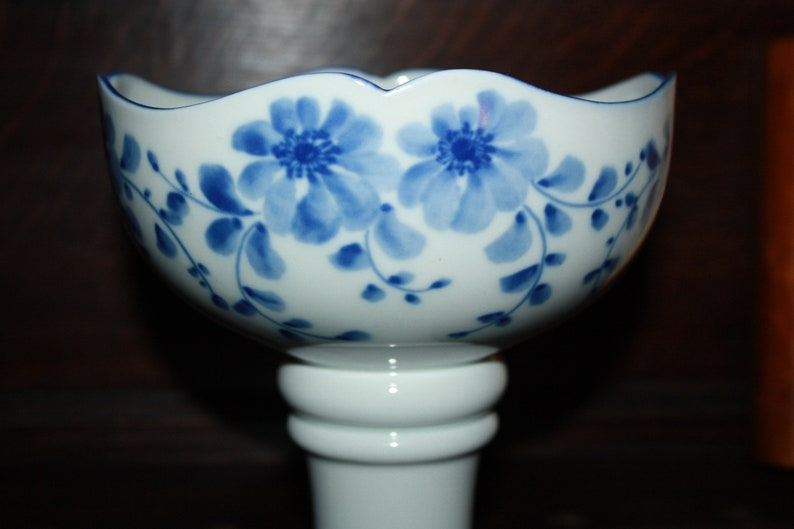 Grand Bowl Porcelain Foot Bowl Confectionery Bowl Wallendorf Real Cobalt RDA
