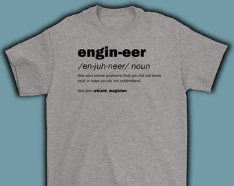 Engineer T Shirt Engineering Birthday Gift For Engineer, Gifts For Engineers, Fathers Day
