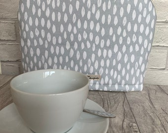 b7bf7a745634 Grey Tea Cosy, abstract tea Cozy, blue Tea Cosy, tea pot warming jacket,  cotton tea cozy, tea pot warmer, tea cosy, house warming gif