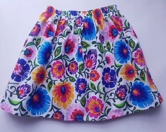 Girls' Skirt, Floral Print, 2-4 years