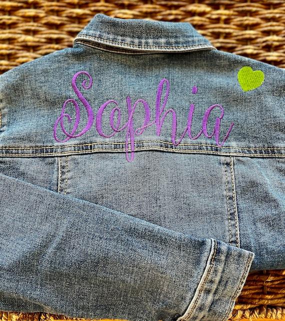 Customized Gift Custom Denim Jacket Upcycled Jean Jacket Personalised Band Jacket Music Gift Unique Kids Clothing One of a Kind