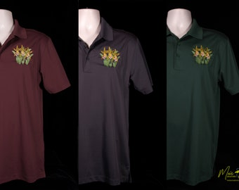 Men's Miltassia Orchid Embroidered Polo Shirt