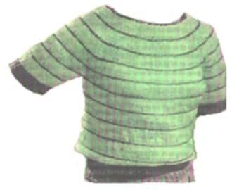 Crochet Boat Neck Blouse Pattern, Misses Crochet Boat Neck Blouse Pattern, Crochet Blouse Pattern, PDF Downloadable Crochet Pattern