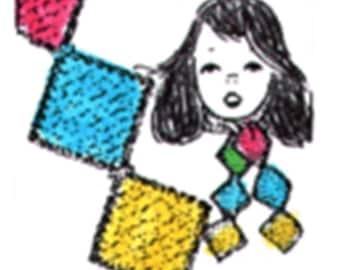 Knitted Scrap Scarf Pattern, Scrap Scarf, Knitted Scarf Pattern, PDF Downloadable Pattern