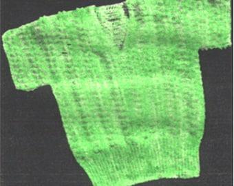 """Crochet """"Popcorn"""" Stitch Blouse Pattern, Misses Crochet Blouse Pattern, Crochet Pattern, PDF Downloadable Pattern, Vintage Crochet Pattern"""