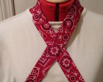Red Bandana Cooling  Neck Wraps, Cooling Neck Scarf, Reusable Cooling Bandana Scarf, Non Toxic Gel Neck Cooler, Gift Under 10, Handmade
