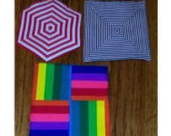 Sizzling Stripe Potholder PDF Sewing Pattern