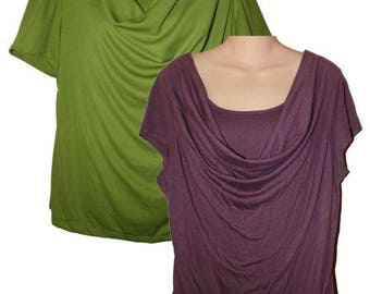 """Women's Misses Size Anywhere """"T"""" Top PDF Sewing Pattern"""