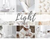 6 MOBILE Lightroom Presets LIGHT, Lightroom Desktop Presets, Bright Photo Filter for Instagram