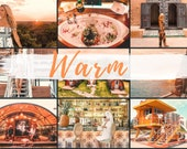 6 MOBILE Lightroom Presets COZY WARM, Lightroom Desktop Presets, Bright Photo Filter for Instagram