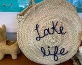 Circle Straw Bag Fashion Bag Beach Tote Bag