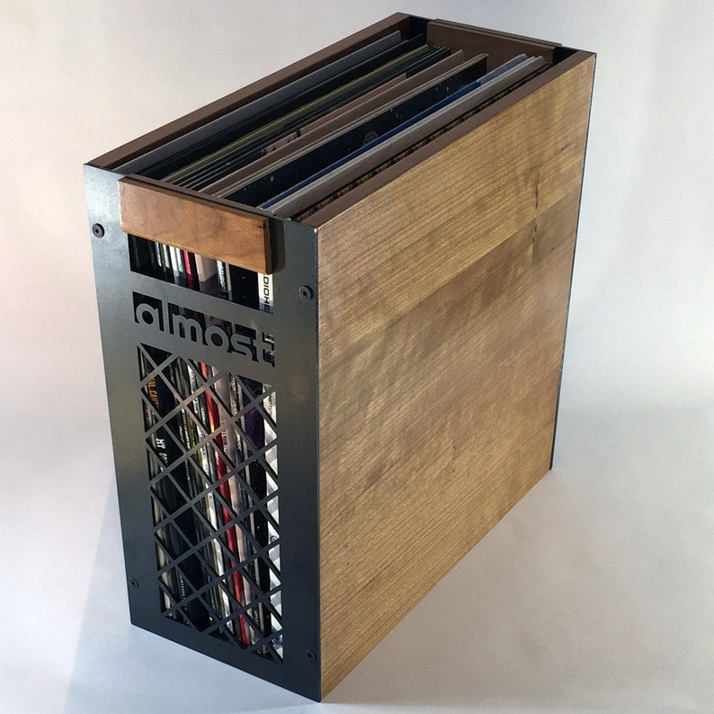 Vinyl Record Storage   Milk Crate Design, Cherry Half