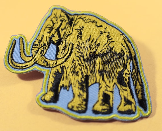 Woolly Mammoth Embroidered Patch Iron or Sew-on 2 PC