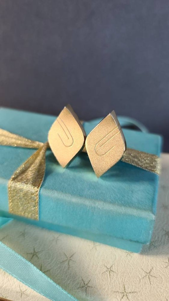 Givenchy Gold Abstract Clip-on Earrings