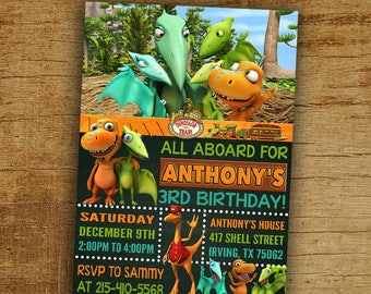 Dinosaur Train Invitation Birthday Digital Printable Party Invite